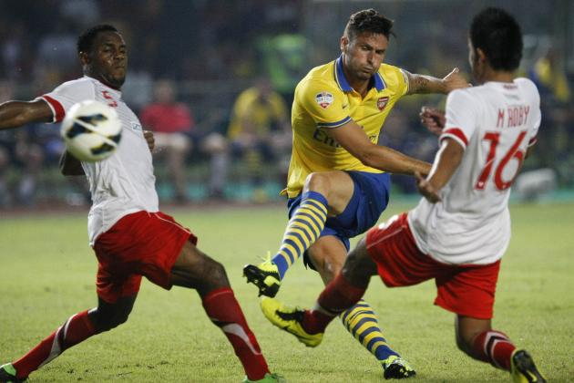 Arsenal vs. Vietnam: Giroud Hits Hat-Trick as Gunners Rout 10-Man Vietnam, 7-1