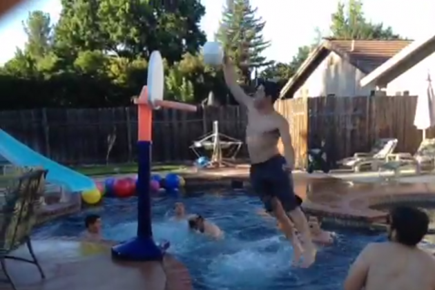 Kids Pull Off Crazy Backyard Alley-Oop