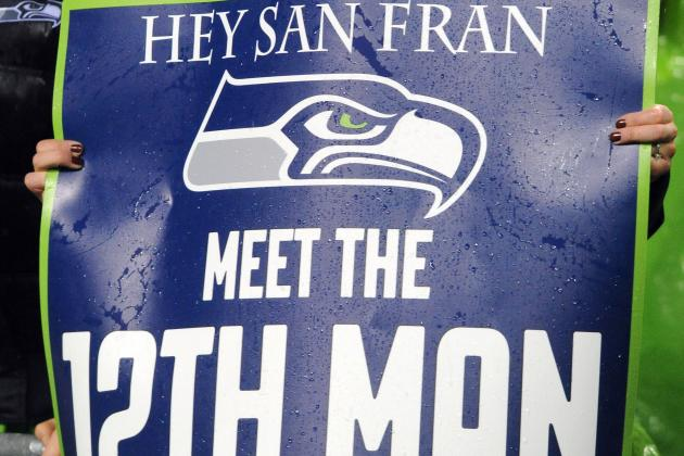 Seahawks Fans Buying 'Go Hawks' Brick at San Francisco's New Stadium