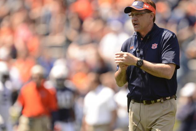 Auburn Head Coach Gus Malzahn Dishes on 2 Newcomers to QB Race