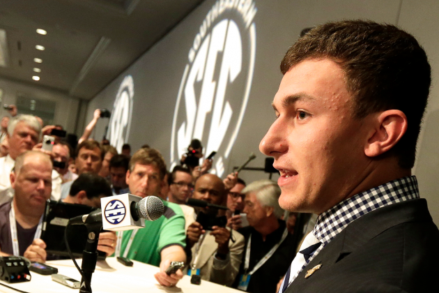 Johnny Manziel Shows He's Growing Up Just by Appearing at SEC Media Days