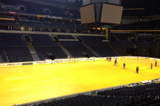 Nashville Predators Bring Yellow Ice to Bridgestone Arena, Obvious Jokes Abound