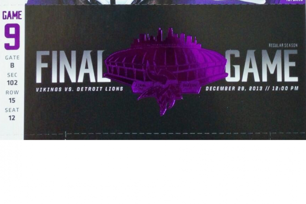 Vikings Reveal Commemorative Ticket for Final Game in Metrodome