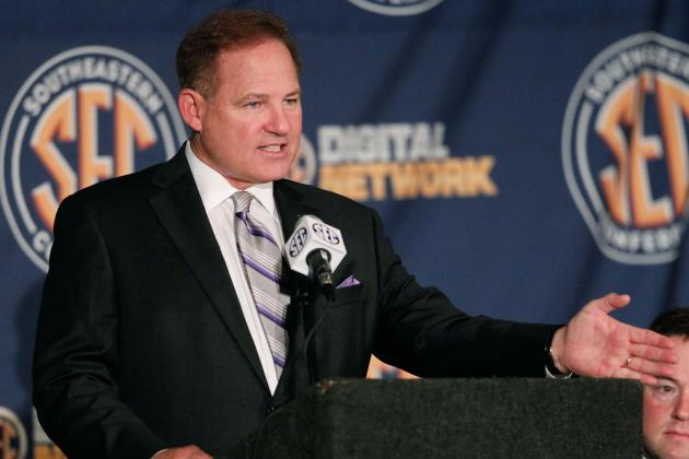 Les Miles Talks on Jeremy Hill, Speaking Australian and More at SEC Media Days