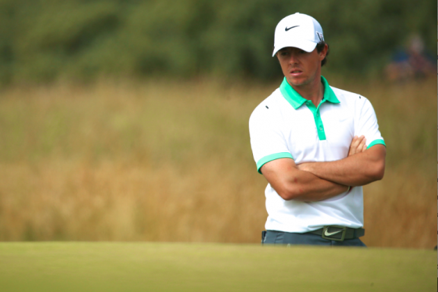 British Open 2013: Rory McIlroy Shoots 79 and Looks Lost in a Field of Wheat