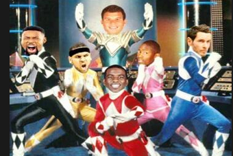 Clippers Photoshopped as the Power Rangers