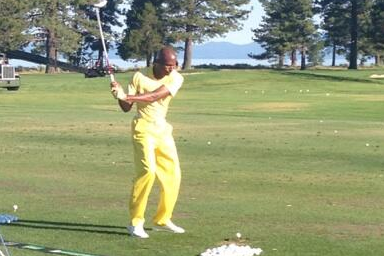 Ray Allen Wears All-Yellow Outfit to American Century Golf Championship