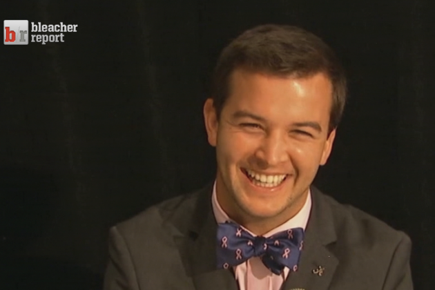 Alabama's AJ McCarron Rocks Breast Cancer Bow Tie at SEC Media Days
