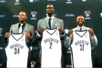 Nets Introduce Pierce, KG at Presser