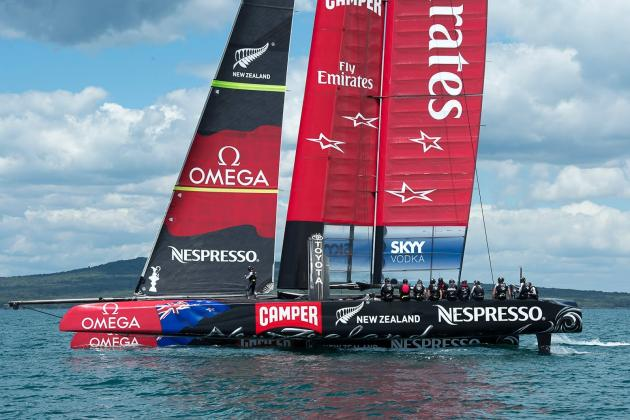 America's Cup  Emirates Team New Zealand New Top Speed: 44.15 Knots