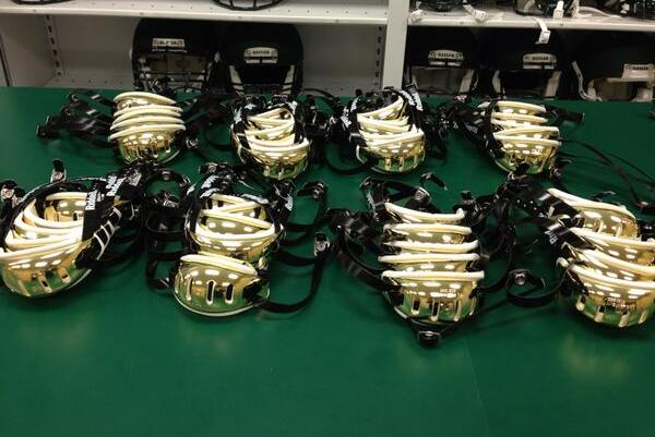 Photo: Baylor Unveils Gold Chrome Chin Straps