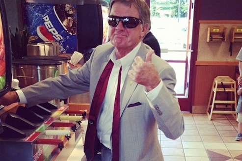 Steve Spurrier's Fast Food Swag Breaks the Internet