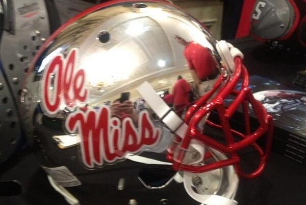 Photo: Potential New Silver Chrome Ole Miss Football Helmet Hits The Web