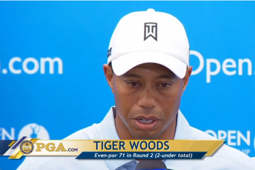 Tiger Woods Interview After Round 2 of Open Championship