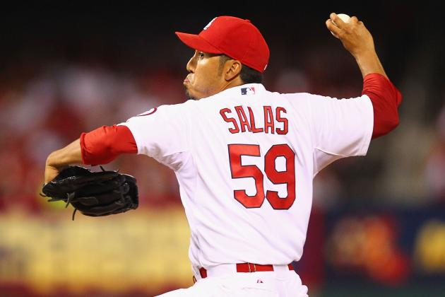 Salas Allows a Run in Return from Injury