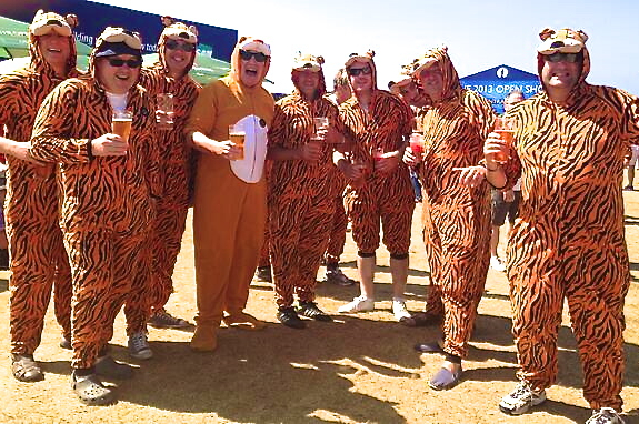 Fans Dress Up in Costumes at the Open Championship