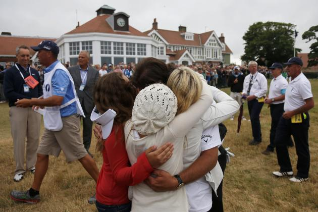 Phil Mickelson, Wife Amy and Children Celebrate British Open Win with Family Hug