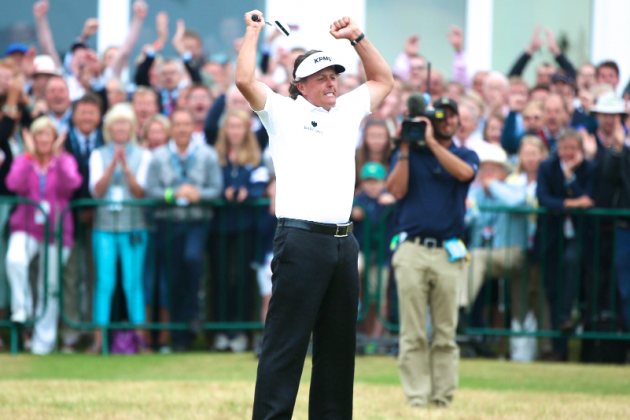 Phil Mickelson Tops Lee Westwood, Tiger Woods to Win 2013 British Open