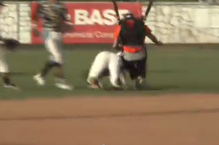 College Baseball Player Knocked Out by a Skydiver