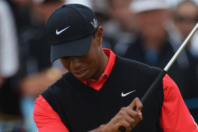 Tiger Woods' Major Weekend Woes Continue Sunday at Muirfield