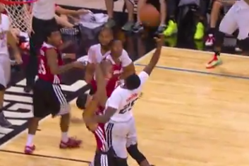 Video: Goodwin Has Shot of Summer League Wiped by Ref