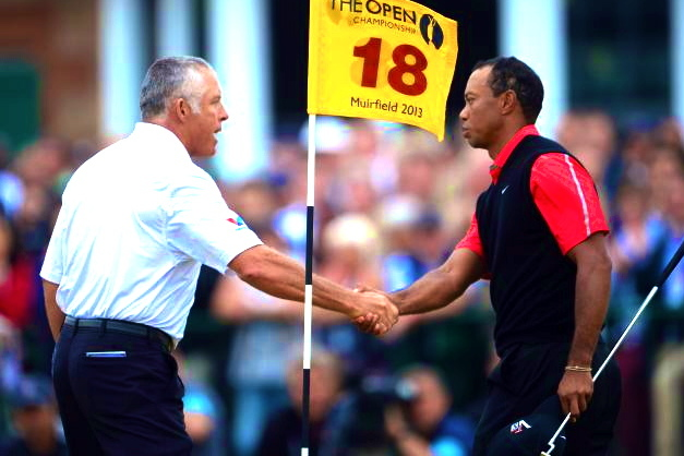 Tiger Woods and Former Caddie Steve Williams Make Amends at 2013 British Open?