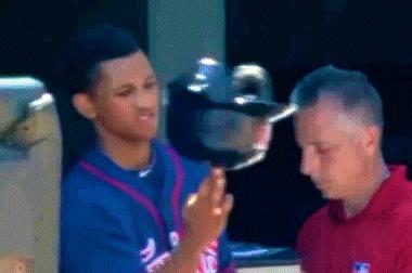 Minnesota Twins Batboy Spins Helmet on His Finger Like It's a Basketball
