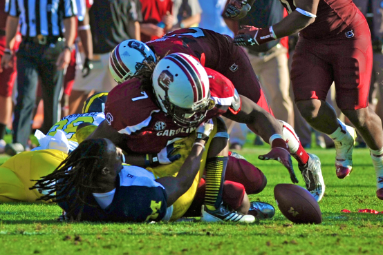 Jadeveon Clowney Would Have Been Ejected Under New Targeting Rule for 'The Hit'