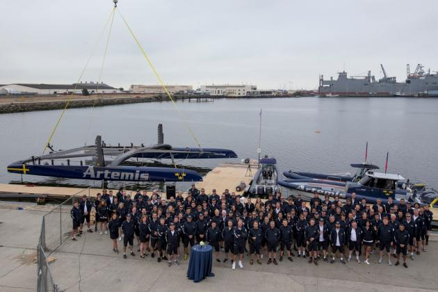 Artemis Racing Launch Blue AC72