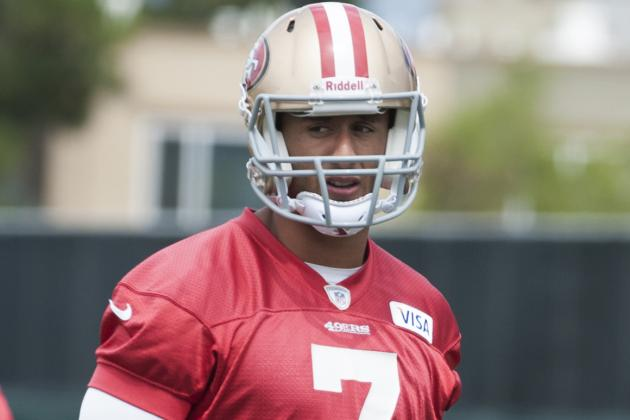 49ers' Colin Kaepernick Gets Down to Business
