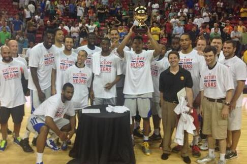 Twitter: Dubs Hoist 1st Summer League Trophy