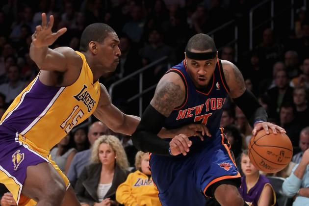 How Metta World Peace Allows Carmelo Anthony to Flourish at Power Forward
