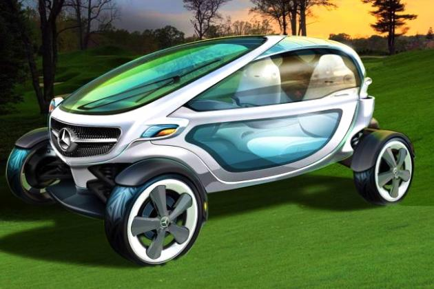 The New Mercedes Benz Golf Cart Concept Takes Luxury to a Whole New Level