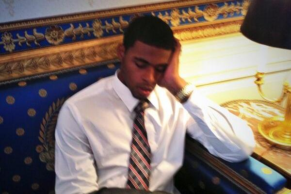 Louisville Cardinals Visit White House, Chane Behanan Falls Asleep