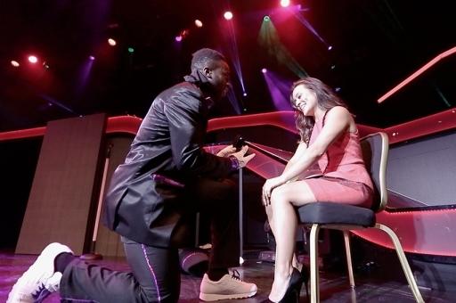 Giants Prince Amukamara Proposes to GF at Jabbawockeez Show (Photos)