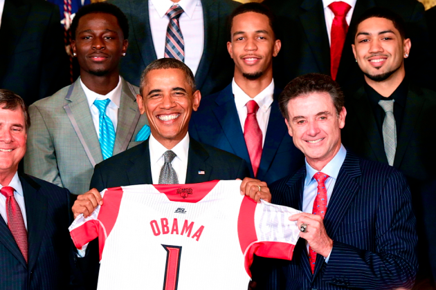 Louisville Cardinals Visit President Obama at the White House