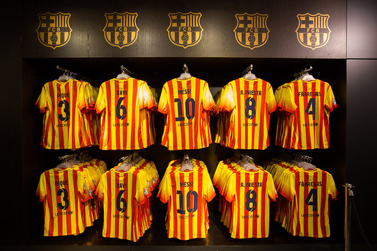 Barcelona New Kits 2013-14: Barca Don New Away Shirts in Match vs Bayern Munich