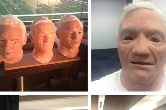 DeMarcus Ware Puts on Jerry Jones Mask for Papa John's Commercial