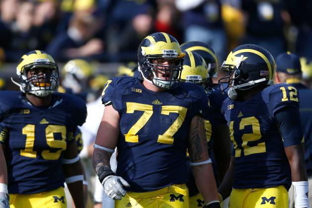 Big Ten Media Days: Michigan's Taylor Lewan on Intense Diet