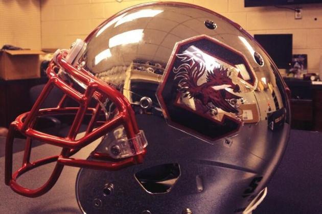 South Carolina Is the Latest School to Show Off Chrome Helmets