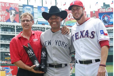 Rangers Present Mariano Rivera with Custom Cowboy Boots, Hat