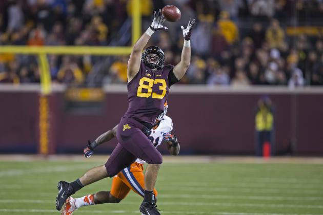 Drew Goodger Leads Young Gophers TE Corps