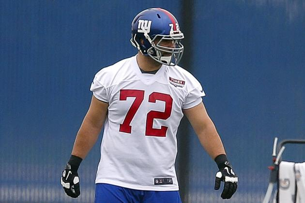 Competition for Giants' Starting Right Tackle Job Pits Youth Against Experience