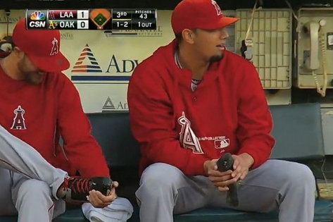 De La Rosa Takes Care of Injured Bird