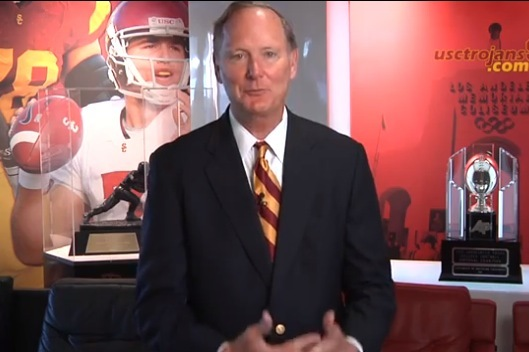 USC AD Pat Haden Says Lane Kiffin Is Not on Hot Seat in State of Football Video