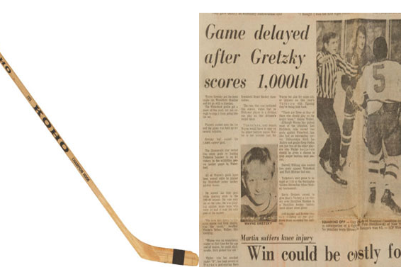Stick from 13-Year-Old Gretzky Being Auctioned