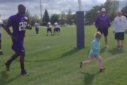 Vine: AD Races a Little Viking After Camp