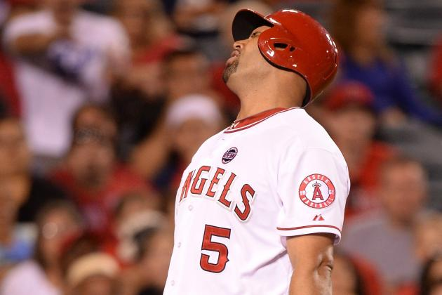 Albert Pujols out of Lineup Today vs. A's; Mike Trout Bats 3rd