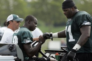 Maclin Carted off Field with Apparent Leg Injury