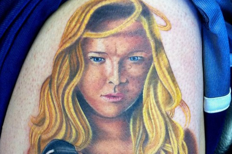 Ronda Rousey Fan Tattoo Will Haunt Your Dreams and Feed on Your Soul